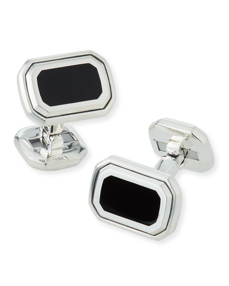 David Yurman Men's Deco Black Onyx Cuff Links