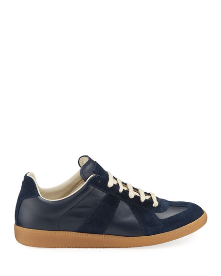 Men's Replica Suede & Leather Low-Top Sneakers