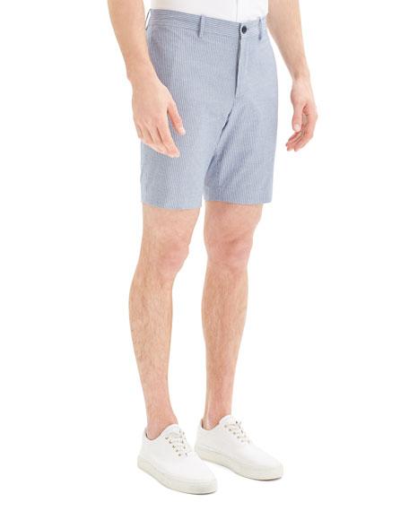 Theory Men's Evan Oxford Striped Shorts