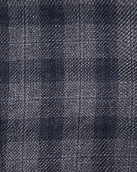 Image 3 of 3: Brioni Two-Tone Plaid Two-Button Sport Jacket