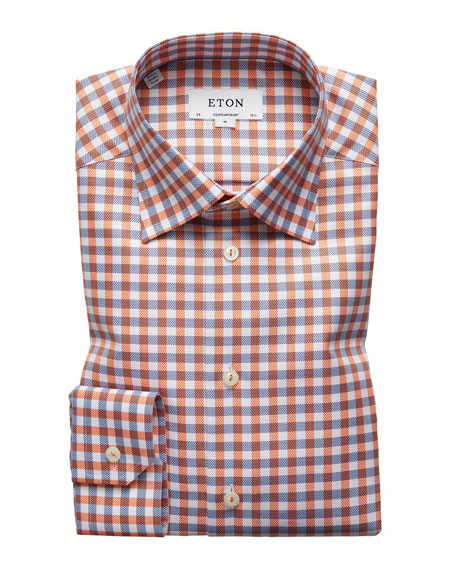 Eton Contemporary-Fit Large-Tattersall Dress Shirt