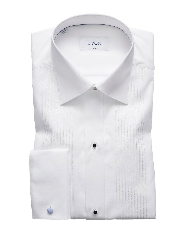 8805fdb57babbc ... wing tip collar men formal dress shirts; eton men s slim fit bib front tuxedo  shirt with metallic detail ...