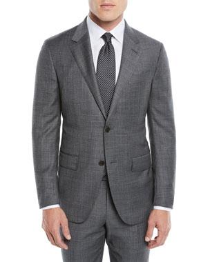 3b7c543e5460a Ermenegildo Zegna Men's Heathered Solid Two-Piece Suit