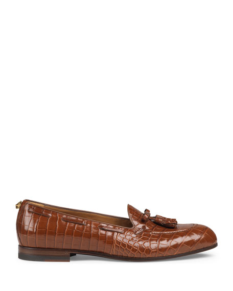 Crocodile Tassel Loafer
