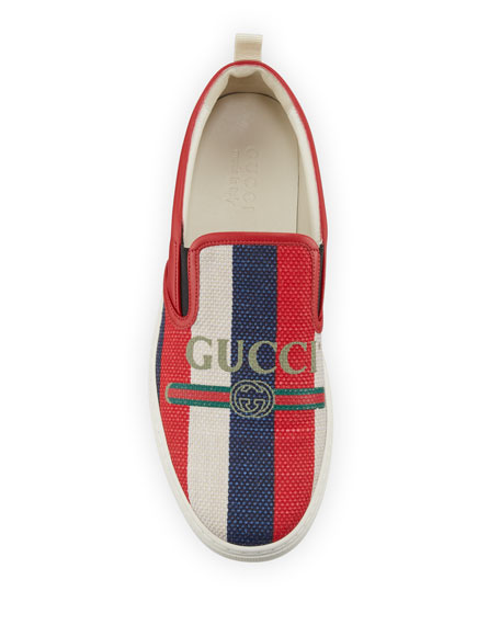 Gucci Logo Sylvie Slip-On Sneaker