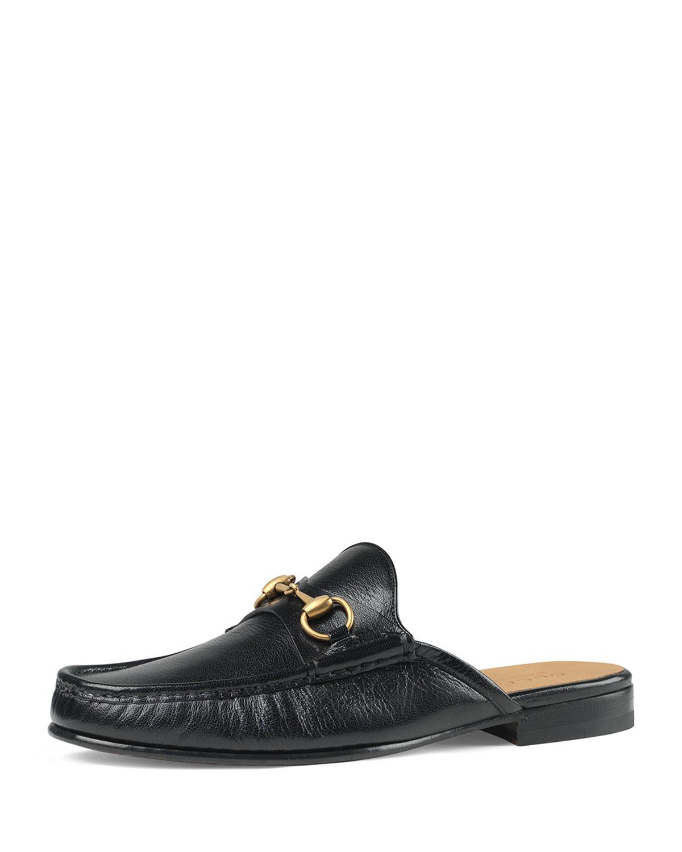 c72b2e498e8 Gucci Horsebit Leather Slipper