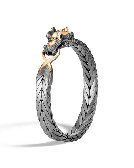 John Hardy Men's Legends Naga Medium Bracelet w/ 18k Gold