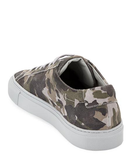 Men's Achilles Camo Suede Low-Top Sneakers, Gray