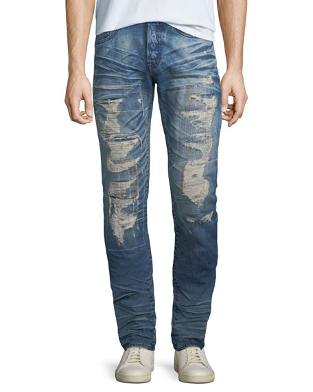 PRPS Men's Le Sabre Ripped Repair Jeans