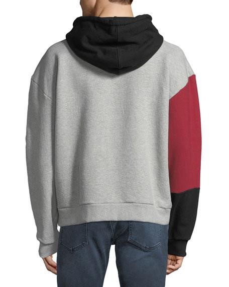 Joe's Jeans Men's Pieced Hoodie Sweatshirt
