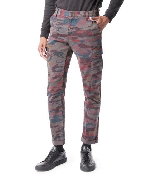 J Brand Cottons MEN'S NAVIS CAMO-PRINT CARGO PANTS
