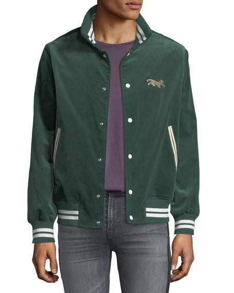 Ovadia & Sons Men's Leopard Varsity Jacket