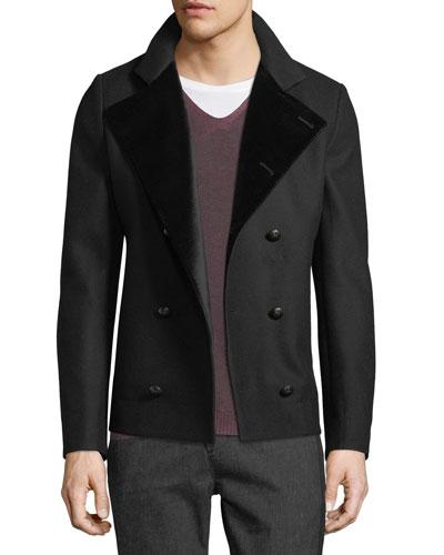 Men's Velvet-Lined Pea Coat
