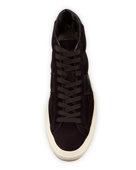 Image 2 of 4: TOM FORD Men's Cambridge Suede High-Top Sneakers