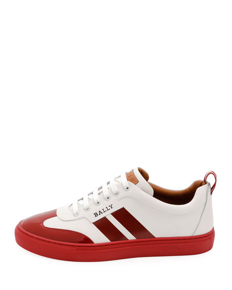 Men's Hendrick Low-Top Wing-Tip Leather Sneakers