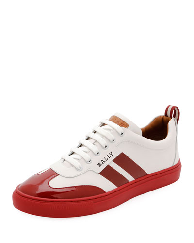 Men's Hendrick Low-Top Wing-Tip Leather Sneakers