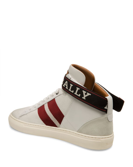Men's Heros High-Top Sneakers with Ankle Grip-Strap
