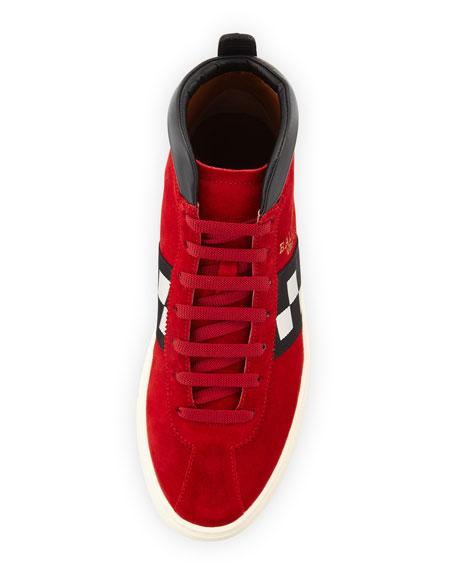 Men's Vita Parcours Retro Suede High-Top Sneakers