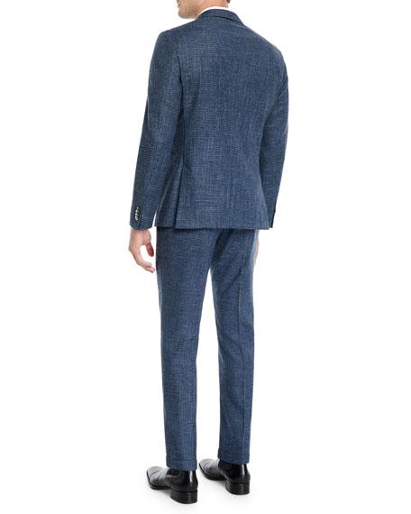 BOSS Men's Micro-Weave Wool/Cotton Two-Piece Suit