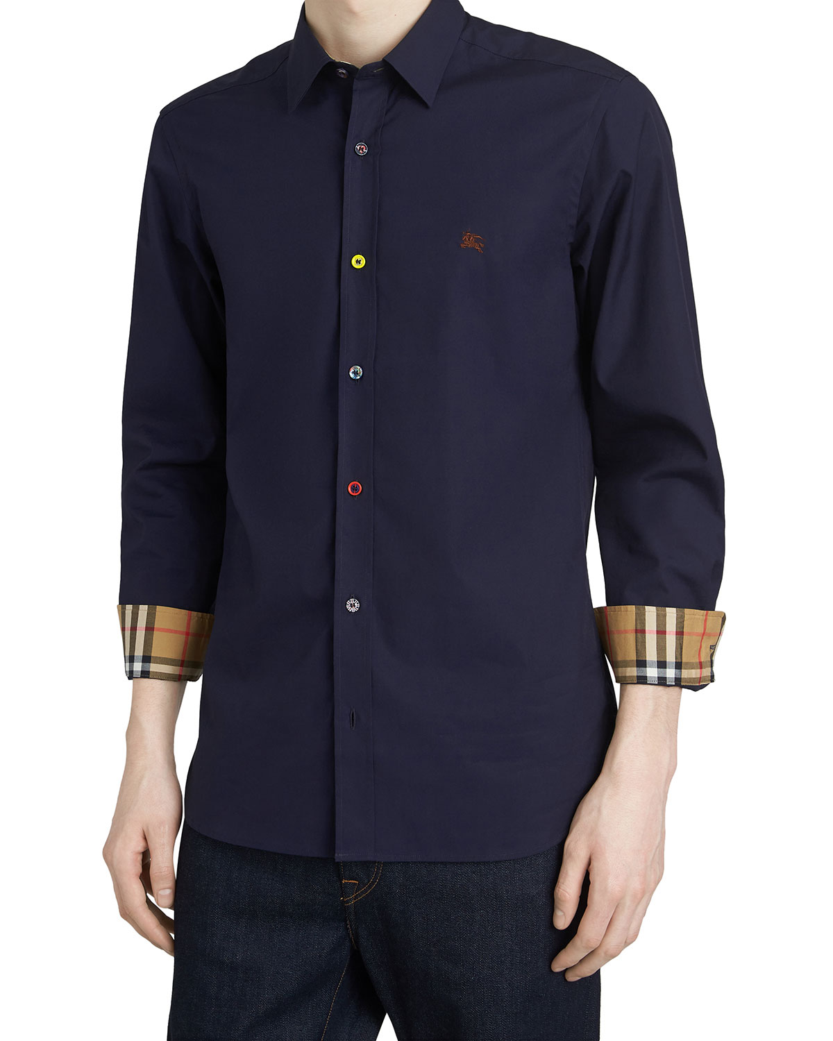 831cb749 Burberry Men's William Poplin Sport Shirt | Neiman Marcus