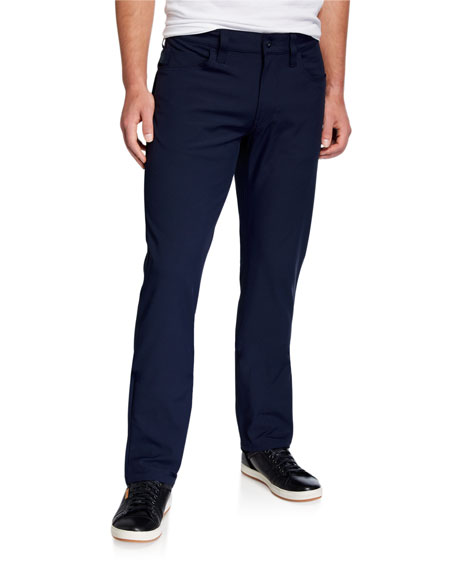 Image 1 of 3: Emporio Armani Men's Techno-Stretch Straight-Leg Pants