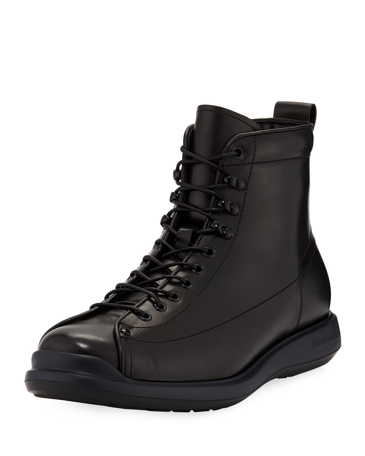 a9df6f794 Giorgio Armani Men's Milord Leather Lace-Up Boots | Neiman Marcus