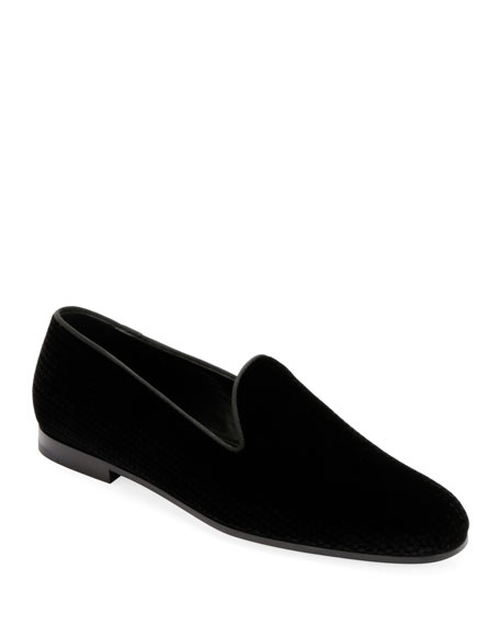 Giorgio Armani Men's Formal Velvet Loafer