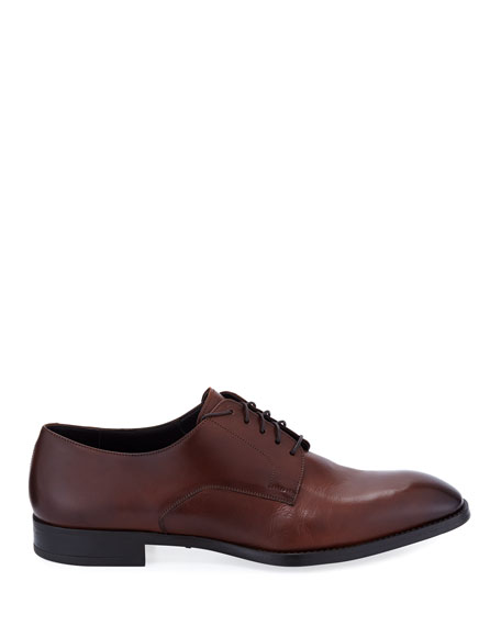 Image 3 of 4: Giorgio Armani  Men's Leather Derby Shoes