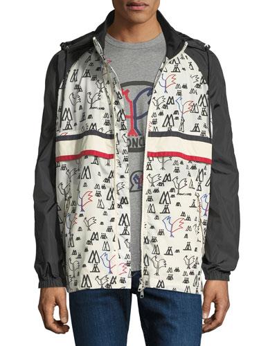 Men's Moncler Genius Allos Printed Zip-Front Jacket