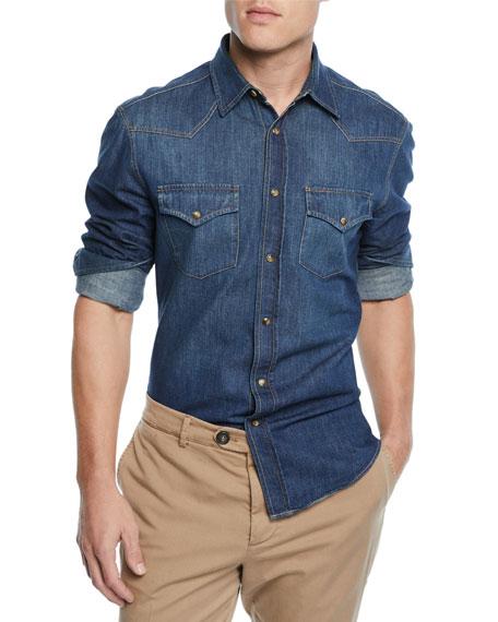 Men's Denim Western Shirt