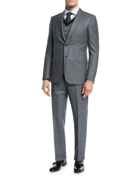 Brioni Men's Prince of Wales Wool Two-Piece Suit