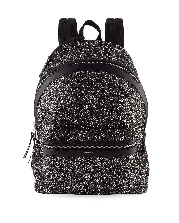 8fdfe43fe6 Saint Laurent Men s City Glitter Backpack