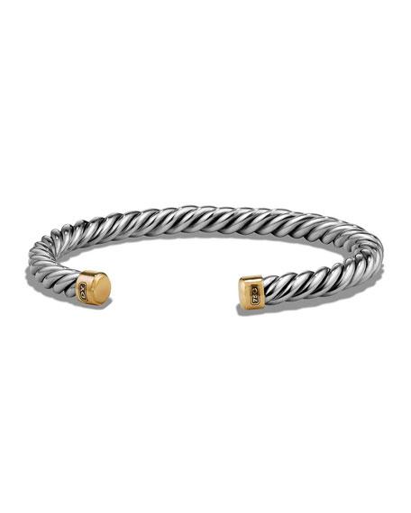 David Yurman Men's Cable Cuff Bracelet w/ 18k
