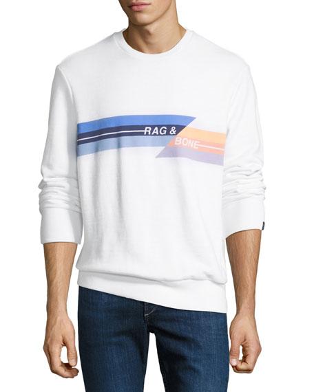 White Cotton Print In Sweatshirt Glitch amp; Loopback Rag Jersey Bone Logo 7IwvYYqa