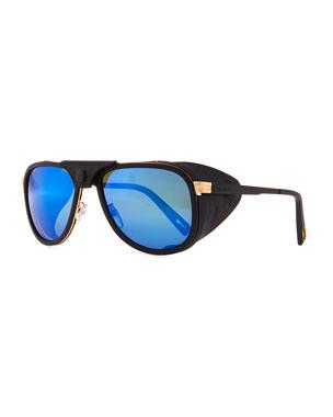 84b919e412 Vuarnet Glacier Pilot Sport Polarized Sunglasses with Detachable Leather  Components