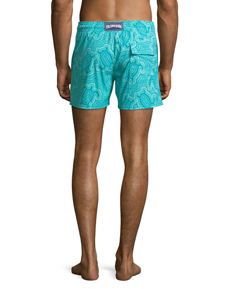 Image 3 of 4: Men's Hypnotic Turtles Graphic Swim Trunks