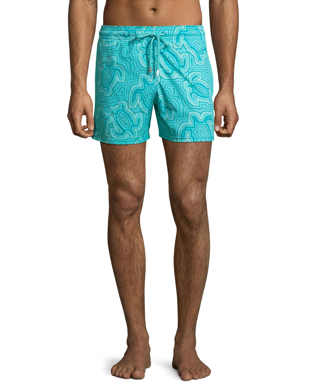 c9da01c4de2b7 Vilebrequin Men's Hypnotic Turtles Graphic Swim Trunks | Neiman Marcus