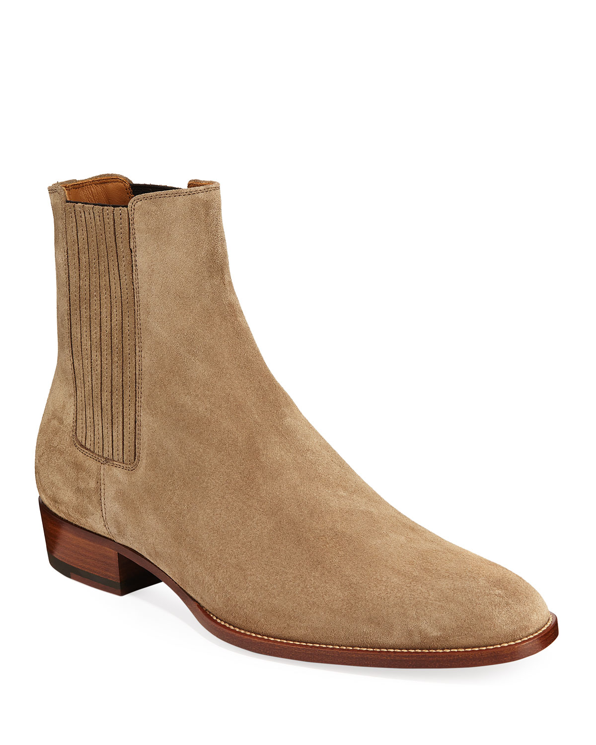 Saint Laurent Men s Wyatt Suede Chelsea Boots  5223d292b