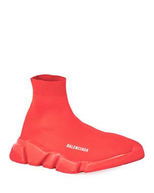 9833f395ac Balenciaga Men's Logo Speed Sneakers with Tonal Rubber Sole