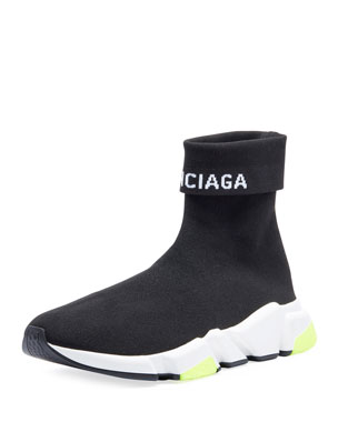 b481f4a0d49e Balenciaga Men s Speed High-Top Stretch-Knit Sock Sneakers