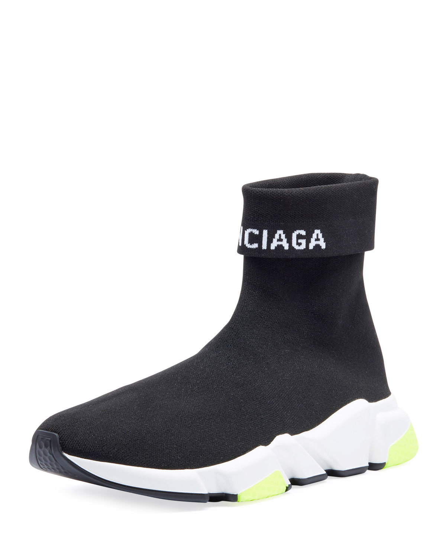 6ef57123d9c3 Balenciaga Men s Speed High-Top Stretch-Knit Sock Sneakers