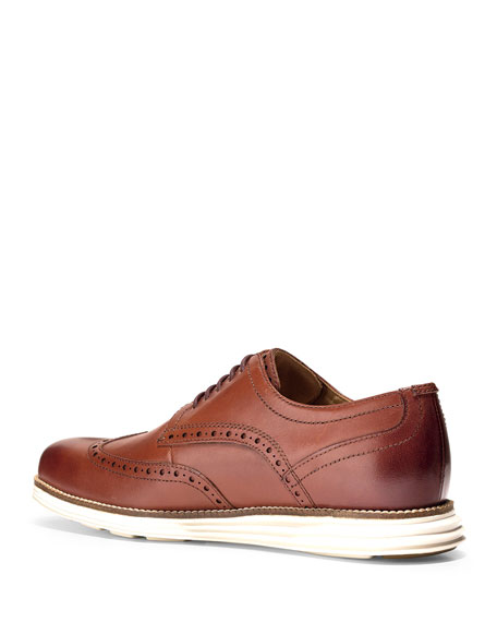 Men's Original Grand Leather Wing-Tip Oxford, Brown
