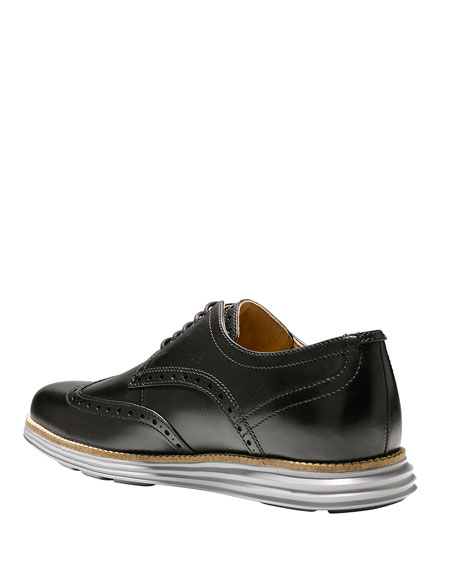 Cole Haan Men's Original Grand Leather Wing-Tip Oxford, Black