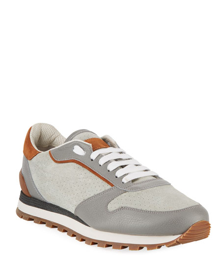 Men's Suede & Leather Trainer Sneaker