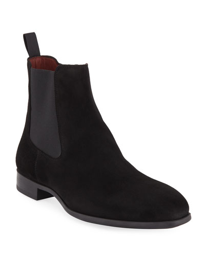 Men's Suede Chelsea Boots