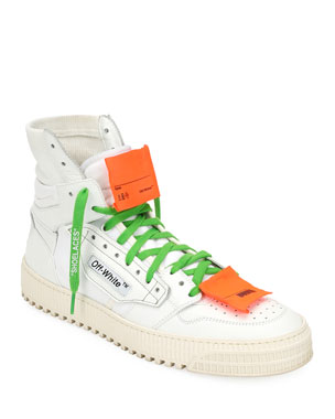 432b62df114 Off-White Men s Low 3.0 Leather High-Top Sneakers