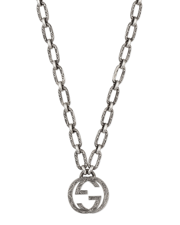 22c637aac Gucci Men's Interlocking G Pendant Necklace | Neiman Marcus