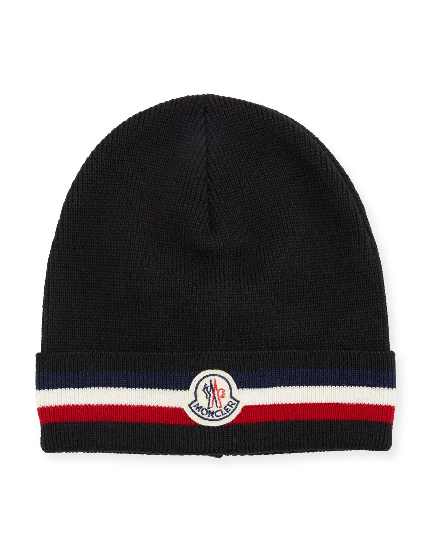 6a3df556d28e5 Moncler Men s Berretto Wool Beanie Hat