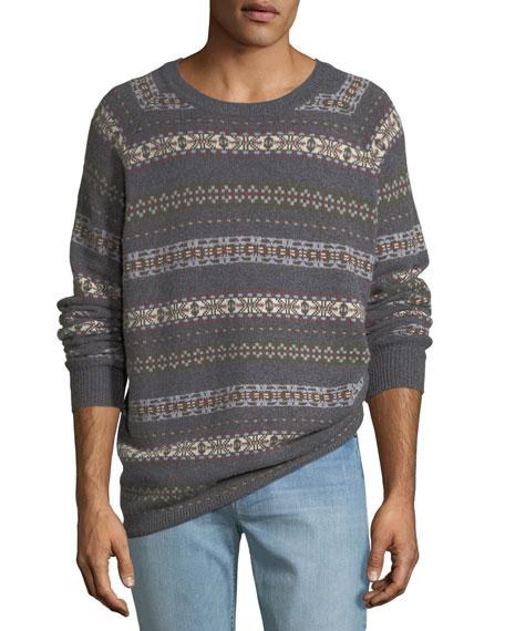 Peter Millar Men's Fair Isle Crewneck Sweater