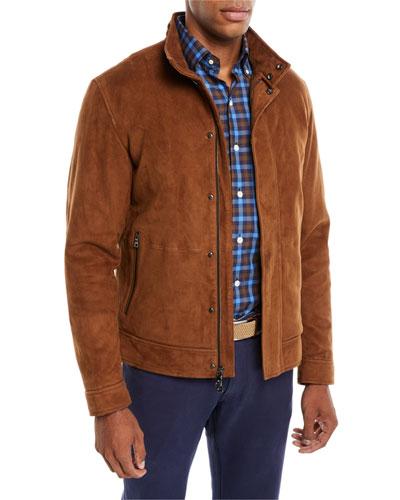 Men's Aston Stretch-Suede Blouson Jacket